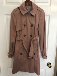 Pink Trench Coat Size US 0 (X-Small)
