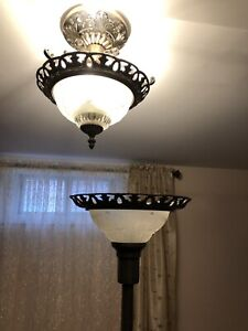 Available! Ceiling and floor lamp combo