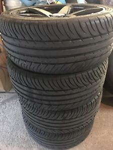 215/40 R16 tires and rims  4 bolt universal mint cond  new