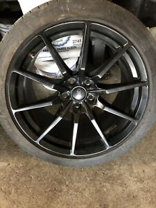 SHELBY GT350 MINT RIMS AND BALD TIRES