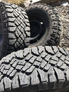 Lt285/70/17 goodyear  duratracs mounted on rims with tpms