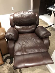 3 Leather recliners for SALE
