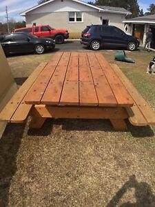 Solid Cedar Picnic Table