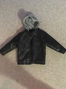 Boys fake leather jacket