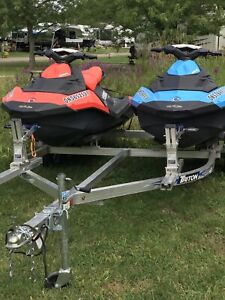 Two 2017 SeaDoo Sparks w dble trailer/SOLD to an awesome family