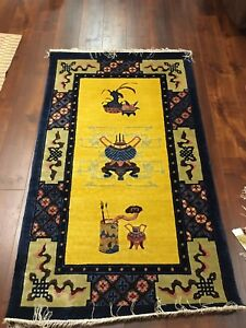 Antique Chinese silk rugs - wall hanging