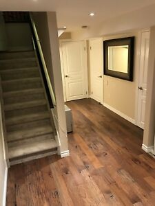2 Basement rooms with private bathroom and Laundry