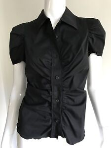 Prada black button down shirt in sz 42