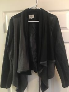 Faux leather jacket / sweater