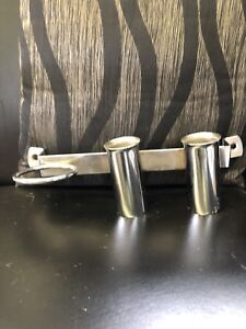 Curling/flat iron/ blow dryer holders. Barbicide jars