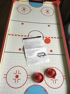 Air hockey table- easy put away