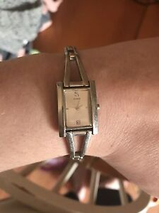 Silver genuine guess watch