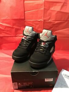 Air Jordan Black Cement 5s Size 4 Youth