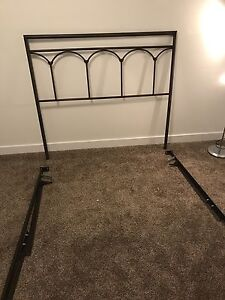 Bed frame and head board for a double bed.