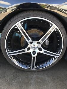 """Selling 4 20"""" rims with tyres 5x114 Minto Campbelltown Area Preview"""