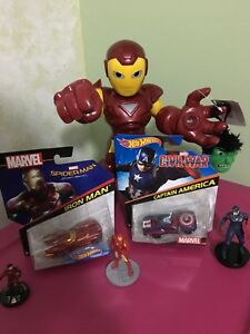 Iron man Captain America toys and hotwheels