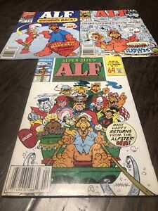 Marvel 'Alf' Comic Books - Lot of 3 different titles