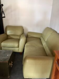 Beautiful leather couch and chair