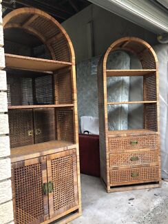 Pair of cane hutches