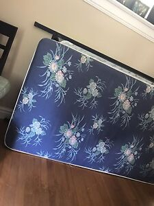 Free twin mattress, box spring and frame