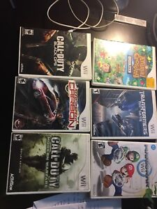 Wii Video games for sale