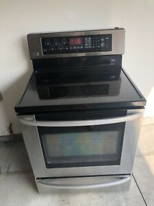 LG Electric stove with warming drawer