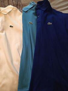Lacoste golf shirts. Size 6