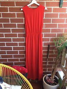 Red/orange full length dress Woolooware Sutherland Area Preview