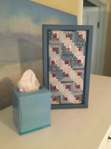Mini quilt in a frame