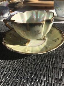 Vintage Footed Bone China Tea Cup and Saucer