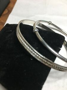 2 Sterling Silver Bracelets size 7.75 one is stamped Danecroft