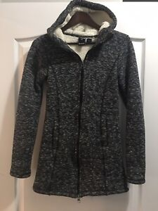 Ask your small women's bench long lined sweater/jacket