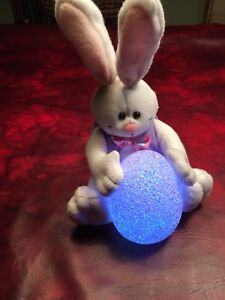 Singing Easter bunny with light up egg