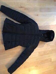 Manteau d'hiver noir pour femme