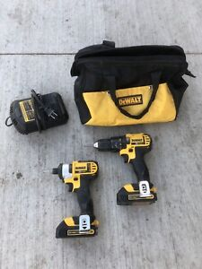 DEWALT 20v drill and impact driver combo