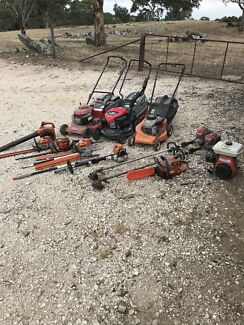 Old gardening tools/motors