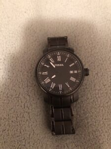 All black fossil watch