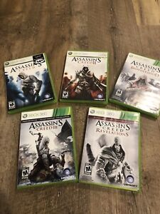 5 Assassins Creed Xbox 360 Video Games