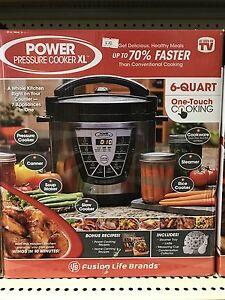Brand New 6-Quart Power Pressure Cooker XL.