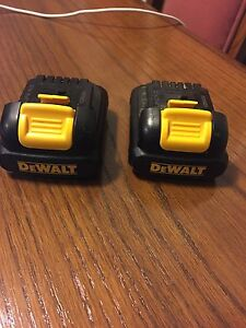 DeWALT 12v battery lithium used