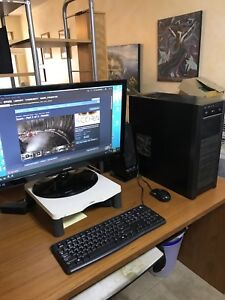 "COMPUTER PC  with 27"" SAMSUNG MONITOR and KEYBOARD and Mouse"