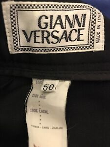 Black Gianni Versace dress pants