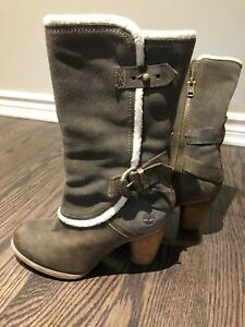 Timberland grey leather boots