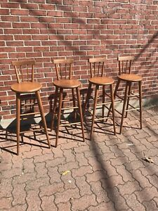 Mid century solid birch bar stools