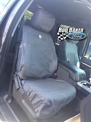 2009-2014 Ford F-150 Carhartt Seat Covers Gravel Captains Chair Front Set HD ()