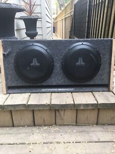 "2 10"" JL Audio Subs w/box, Amp and Capacitor"