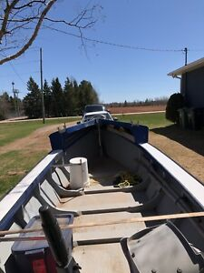 Oyster dory and trailer