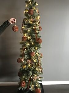 Modern Copper and Rose Gold Christmas Tree Decor Package