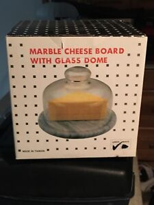Marble cheese tray with dome