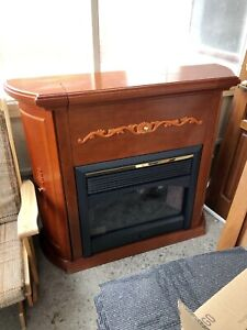 Electric Fireplace & Bar